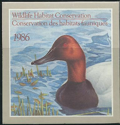 Canada B.o.b. Federal Wildlife Habitat Conservation #Fwh2 Mint Duck Stamp (A)