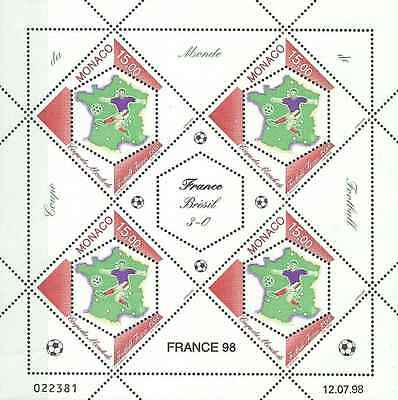 Timbres Sports Football Monaco F2163 ** année 1998 lot 10523