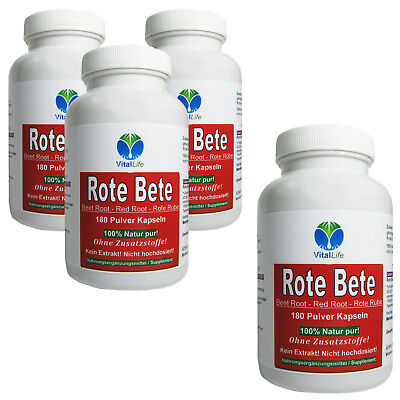 Rote Bete Beete Red Root Rote Rübe 720 Pulver Kapseln 100% Natur #25326
