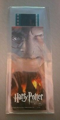 Harry Potter & The Deathly Hallows Film Cell Book Mark MINT Free Postage