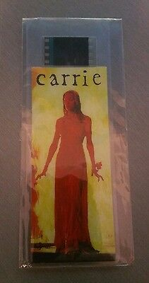 Carrie Film Cell Book Mark Girl On Fire 15CM MINT Sealed Horror Free Postage