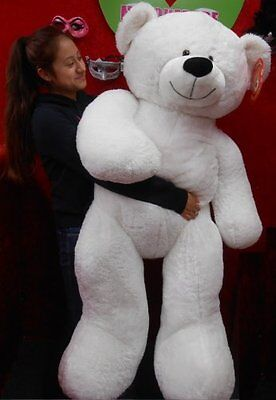 """Life Size White Teddy Bear Over 52"""" Tall 320325"""