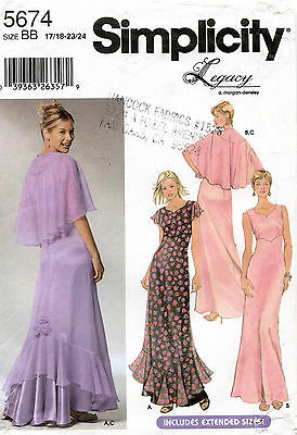 Simplicity Dress and Copelet Pattern 5674 Size 17/18-23/24 UNCUT