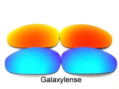 2db2314ade Galaxy Replacement Lenses For Oakley Juliet Sunglasses Ice Blue Red  Polarized