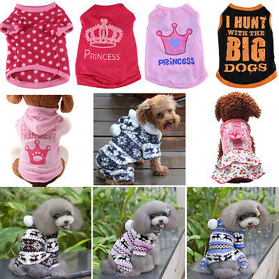 Unisex Pet Winter Summer Clothes Puppy Dog Cat Vest T Shirt Coat Dress Sweater