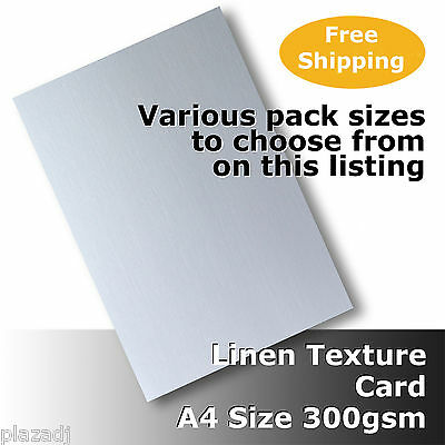 Linen Texture Finish A4 Size 300gsm High Quality White Card #H6008