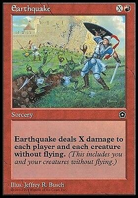 Terremoto - Earthquake MTG MAGIC PO2 Portal Second Age English