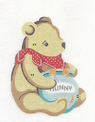 "/""Piglet/"" from Winnie the Pooh handpainted Needlepoint Canvas by Silver Needle"