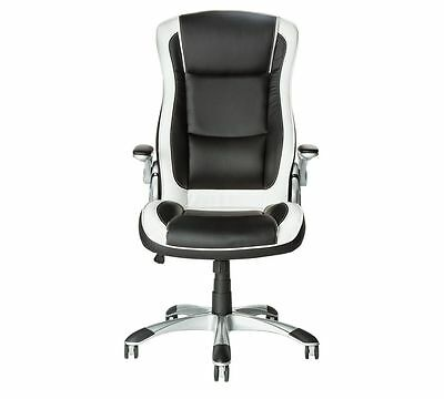 Dexter Office, Adjustable arms, Chair - Black and White.