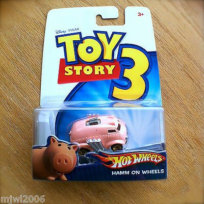 Disney PIXAR Toy Story 3 HAMM ON WHEELS Hot Wheels diecast Mattel piggy bank