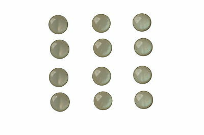 Buttons 12 Eyelets buttons 12 mm Plastic cream colors shimmering