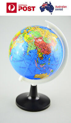 Portable table 10CM world globe map for child early education