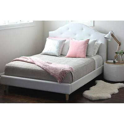 Hip Kids Mia Double Bed White Upholstered Children Toddler Bedroom Furniture