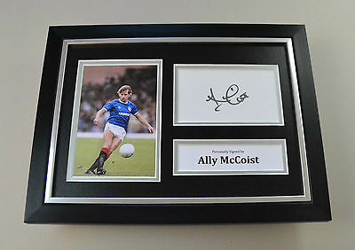 Ally McCoist Signed A4 Photo Framed Rangers Autograph Display Memorabilia + COA
