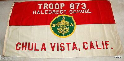 EARLY BOY SCOUT-3' x 5' TROOP 873 FLAG - CHULA VISTA, CALIF