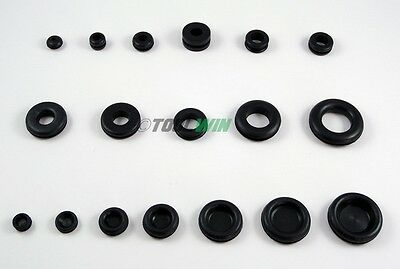 125 pcs Rubber Grommet Assortment Set & Assorted Blanking Hole Plugs