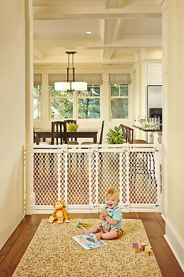 North States Extra Wide Supergate Baby/Pet Safety Play Gate - Ivory | 8749