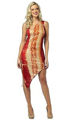 Bacon Dress Costume Adult Women's size 4-10 Funny Group