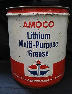 Vintage Amoco Lithium Multi-Purpose Grease Can #6342