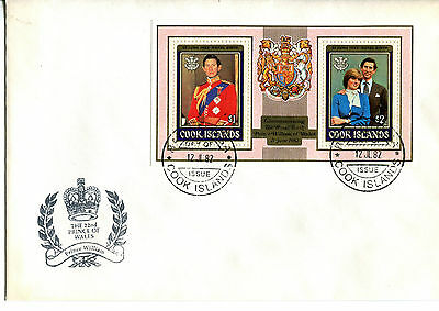 Cook Islands 1982 Birth of Prince William (1st Issue) MS  FDC