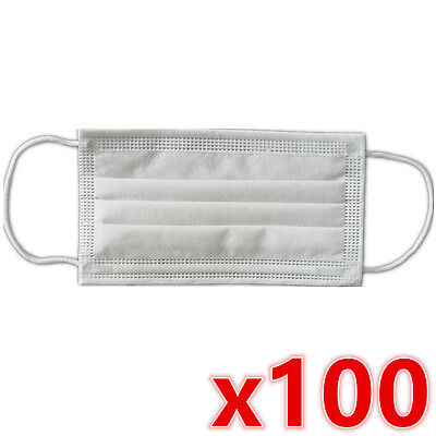 100 x Disposable Surgical Medical Face Mouth Dust Clean Hygienic Mask New #251