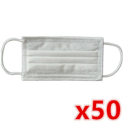 50 x Disposable Surgical Medical Face Mouth Dust Clean Hygienic Mask New #251