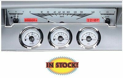 Dakota Digital 1961-62 Impala Instrument System - Silver / Red  VHX-61C-IMP-S-R