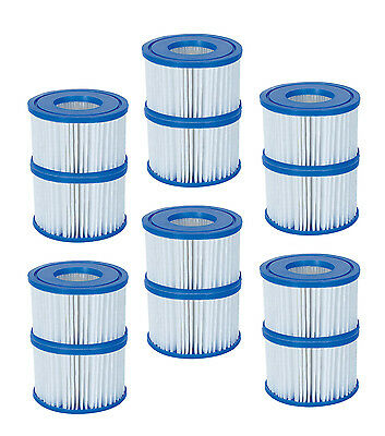 Coleman Spa Filter Pump Replacement Cartridge Type VI 90352 (12 Pack) (Bestway)