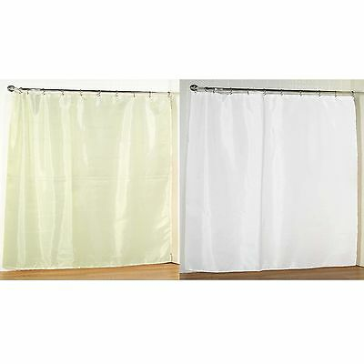 Extra Wide Fabric Shower Curtain 108W X 72L Weighted Hem
