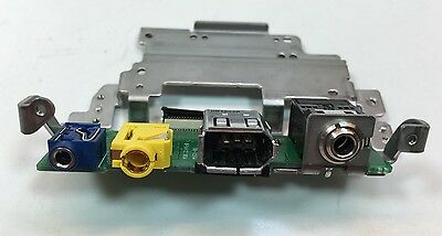 Canon XH-A1s Part A/V Audio Video Port Jack With Circuit Board Works Used