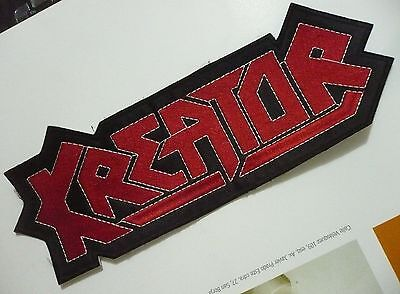 KREATOR Band Logo EMBROIDERED SHAPED PATCH CD THRASH METAL