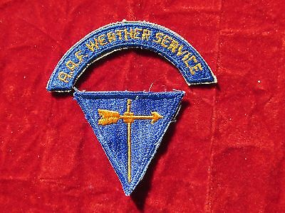 WW2 US Army Air Force Weather Service Arc / Tab + Weather Specialist Triangle