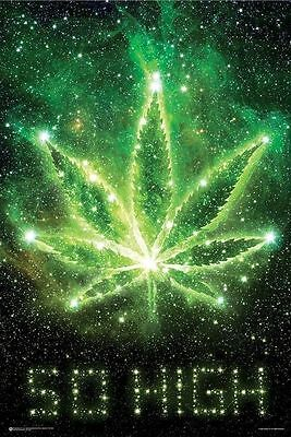 So High In The Sky Marijuana Poster (61X91Cm) Picture Print New Art