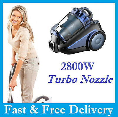 Vacuum Cleaner with Turbo Nozzle 2800W Bagless True Cyclonic HEPA  Free Postage