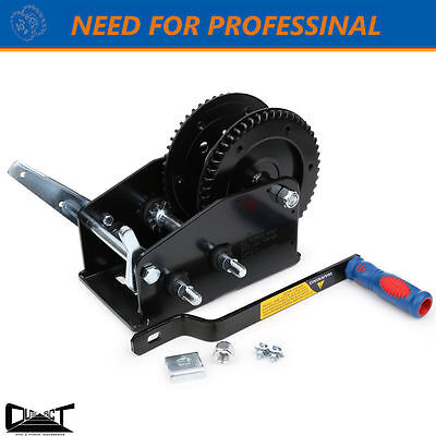 3200 Lbs Taiwan Professional Made  Hand Winch Hand Break Double Gear 10014