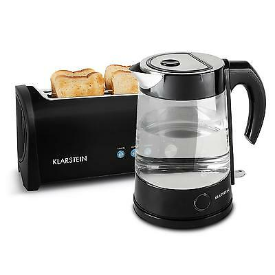 New Electric Kettle And 4 Slice Toaster Long Slot Toasters Quick Water Boiler