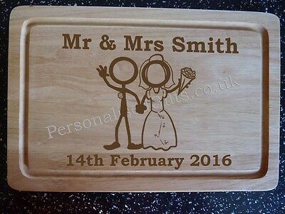 Personalised Bride & Groom Choppping Board: Unique Wedding Gift