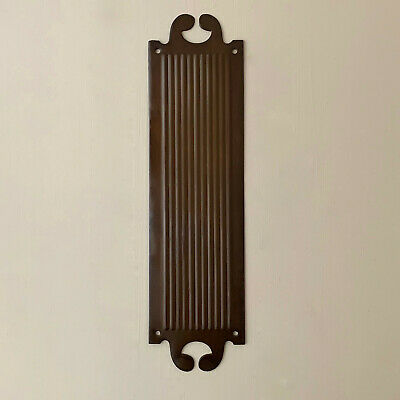Bronze Finish Ornate Finger Door Push Plates Fingerplate