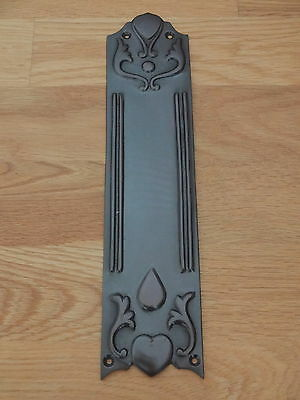 Edwardian Style Bronze Finish Cast Finger Door Push Plate Fingerplate