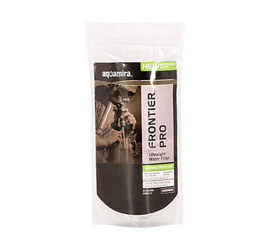Aquamira Frontier Pro Straw Tactical In-Line Water Filter GRN Line US-made