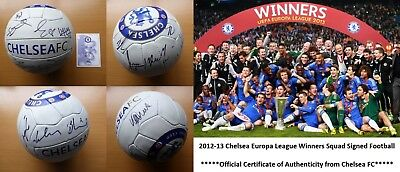 2012-13 Chelsea Squad Signed Football Official COA (6603)