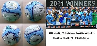 2010-11 Man City Squad Signed Official Football (7447)