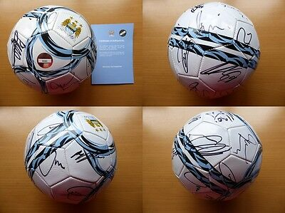 2013-14 Man City Squad Signed Football - Official COA (6661)