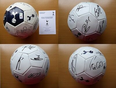 2013-14 Tottenham Squad Signed Football - Official COA (6664)