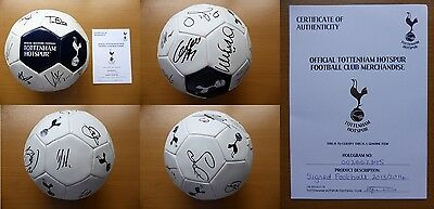 2013-14 Tottenham Squad Signed Football - Official COA (6732)