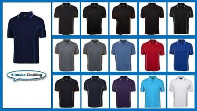 NEW PIPING POLO Mens Short Sleeve Podium Shirt  JB's Wear 7PIP Uniforms Sports