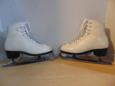 Figure Skates Childrens size 4.5 Youth Wifa Leather.  Some wear and marks
