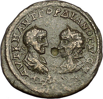 GORDIAN III & TRANQUILLINA 238AD Odessos Thrace Tyche Ancient Roman Coin i54193