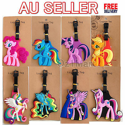 1 X Luggage School Bag Tag My Little Pony Pinkie Pie Rainbow Twilight Travel
