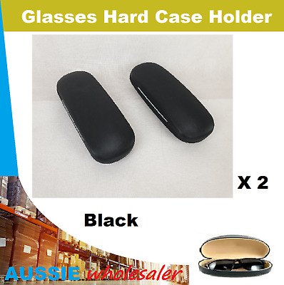 2 X Glasses Small Hard Case Holder Box with Interweave Surface